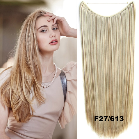 Flip in vlasy - 60 cm dlhý pás vlasov - odtieň F27 / 613