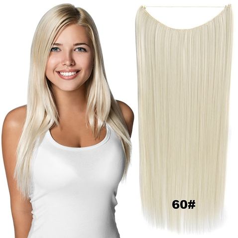Flip in vlasy - 60 cm dlhý pás vlasov - odtieň 60