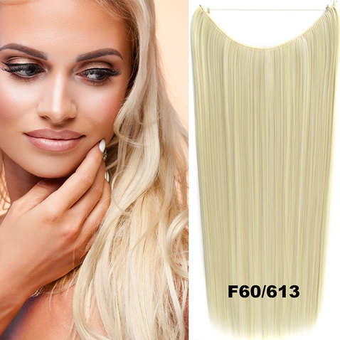 Flip in vlasy - 60 cm dlhý pás vlasov - odtieň F60 / 613
