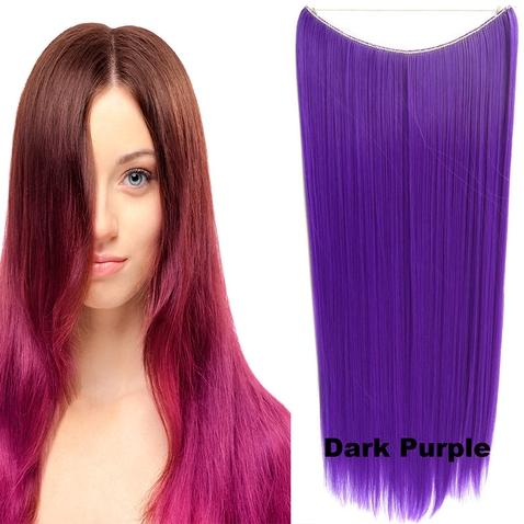Flip in vlasy - 60 cm dlhý pás vlasov - odtieň Dark Purple