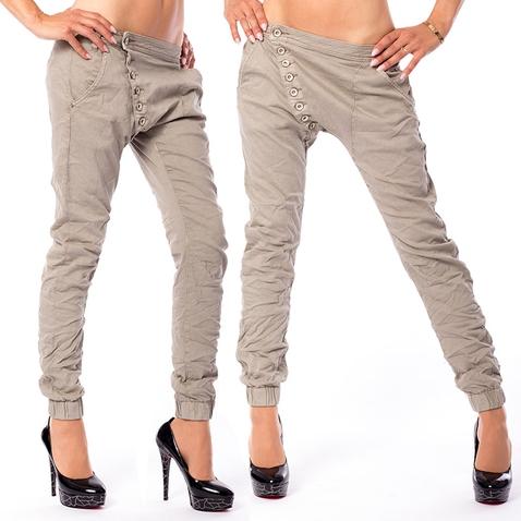 Dámske krčenia nohavice Baggy Safari