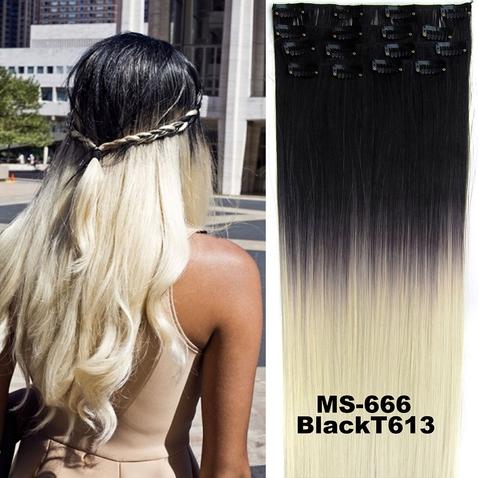 Clip in sada OMBRE - odtieň Black T 613