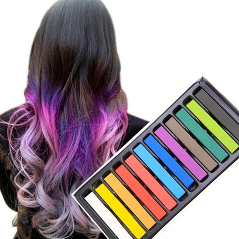 Farebné kriedy na vlasy - sada 12 ks