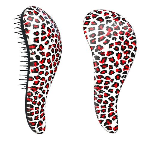 Dtangler rozčesávacia kefa na vlasy - Leopard Pink