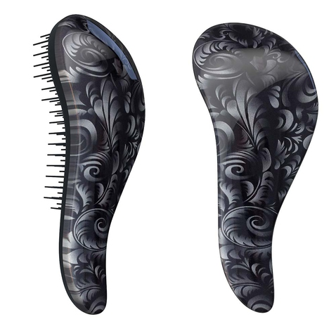 Rozčesávacia kefa Detangler Brush Black Flower