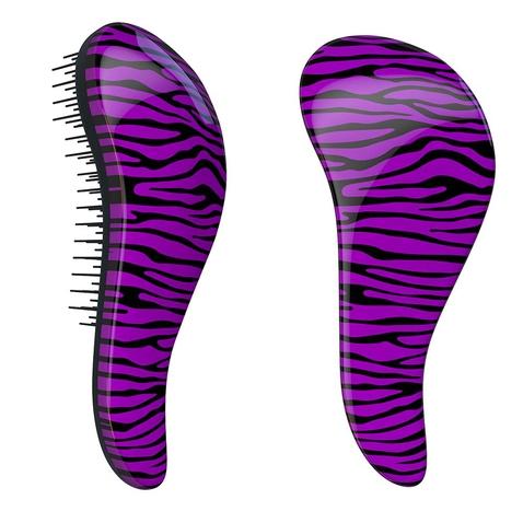 Dtangler rozčesávacia kefa na vlasy - Zebra Purple