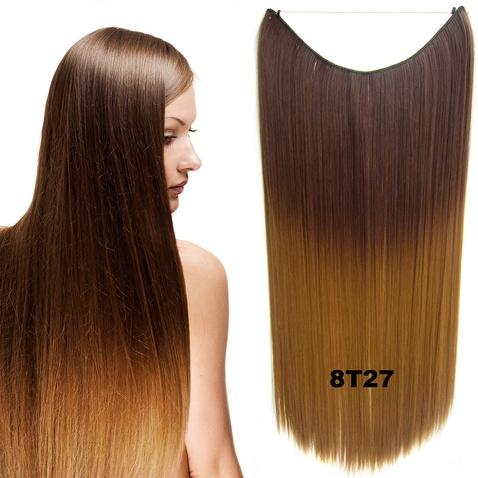 Flip in vlasy - 55 cm dlhý pás vlasov - odtieň 8 T 27