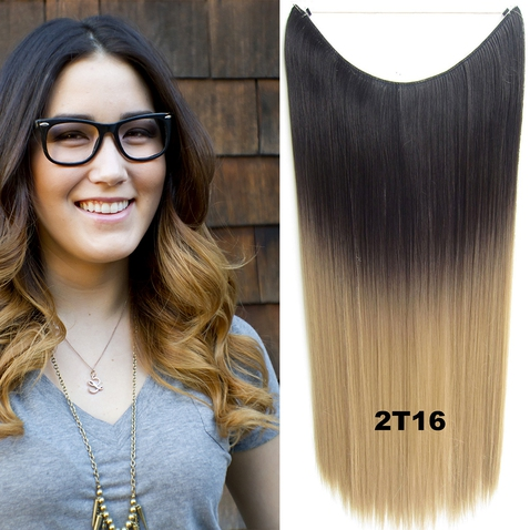 Flip in vlasy - 55 cm dlhý pás vlasov - odtieň 2 T 16