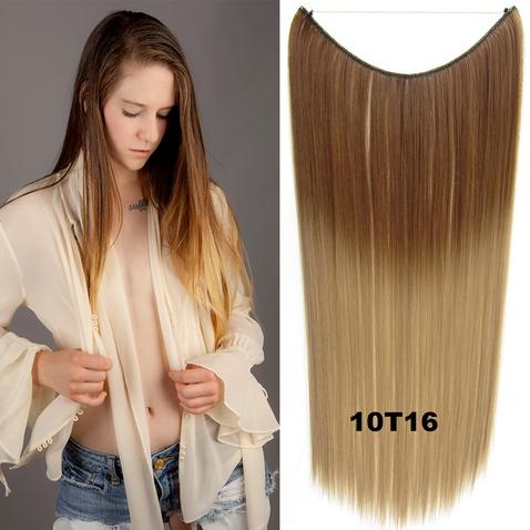 Flip in vlasy - 55 cm dlhý pás vlasov - odtieň 10 T 16