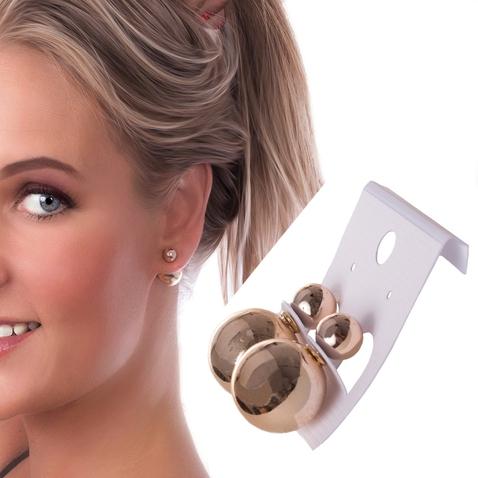 Dámske náušnice gule za ucho - zlatá - 12 mm