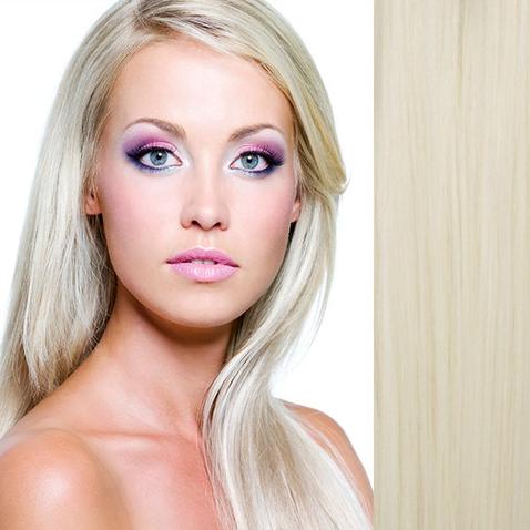 Clip in sada DE-LUXE, 57 cm, odtieň 61 - platinová blond