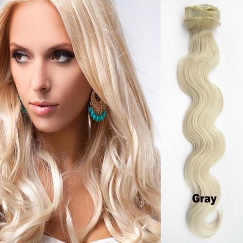 Clip in sada vlnitá DE-LUXE, odtieň 61 - chladná blond