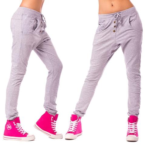 Dámske háremové nohavice - svetlo šedé
