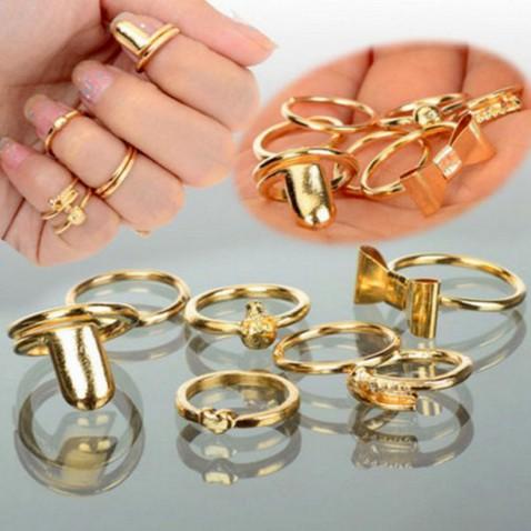 Prstienky - sada 7 kusov na články prstov