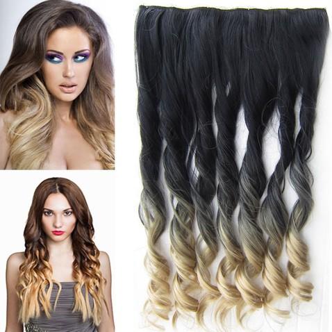 Clip in vlasy - pás, lokne - ombre - odtieň 2 T 24
