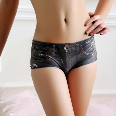 Dámske nohavičky - 3D jeans - čierné