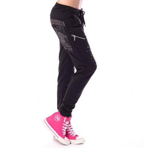 Dámske teplákové nohavice Fashion - čierne