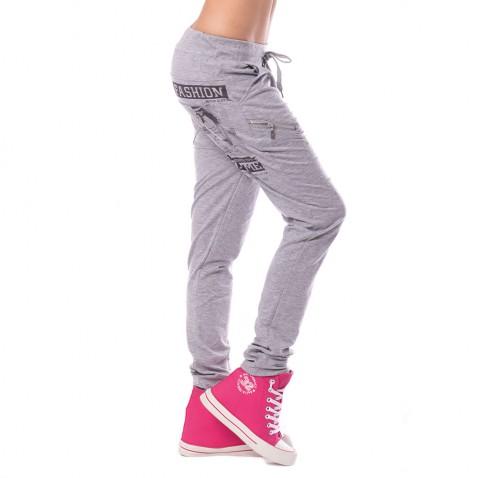 Dámske teplákové nohavice Fashion - šedé