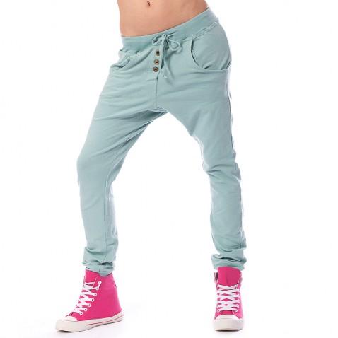 Dámské harémové kalhoty - zelené