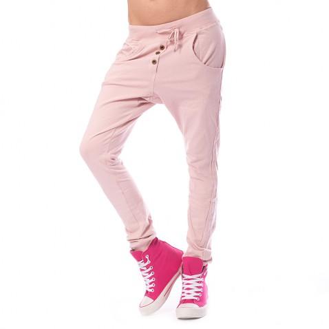 Dámske háremové nohavice - svetlo ružové