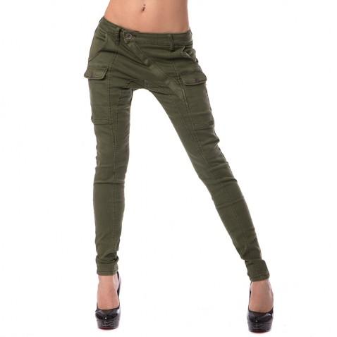 Dámske jeans Gourde - zelené
