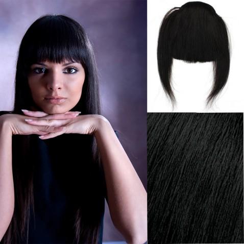 Clip in ofina - REMY 100% ľudské vlasy - 1B - čierna