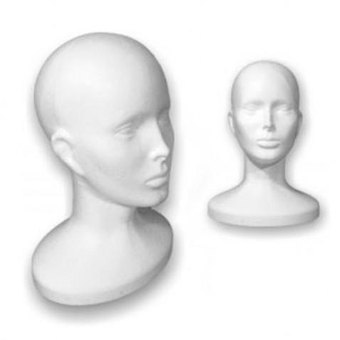 Polystyrénová hlava 32 cm - pohodlné uloženie parochní