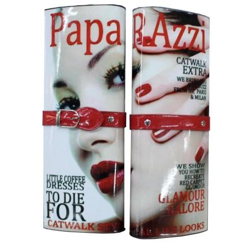 Listová kabelka - dizajn módneho časopisu - zelená Paparazzi